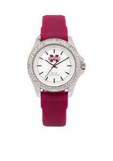 Jack Mason Women's Mississippi State Glitz Silicone Strap Watch