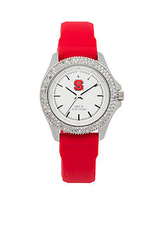Jack Mason Women's NC State Glitz Silicone Strap Watch