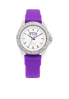 Jack Mason Women's TCU Glitz Silicone Strap Watch