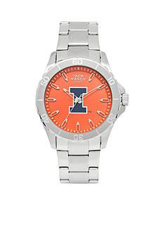 Jack Mason Men's Illinois Sport Bracelet Team Color Dial Watch