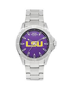Jack Mason Men's LSU Sport Bracelet Team Color Dial Watch