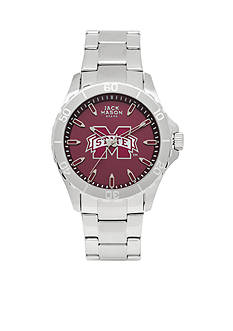 Jack Mason Men's Mississippi State Sport Bracelet Team Color Dial Watch