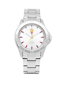 Jack Mason Men's Arizona State Sport Bracelet Silver Dial Watch