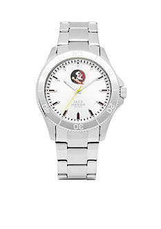 Jack Mason Men's Florida State Sport Bracelet Silver Dial Watch