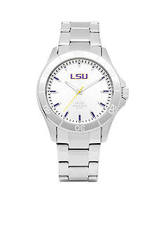 Jack Mason Men's LSU Sport Bracelet Silver Dial Watch