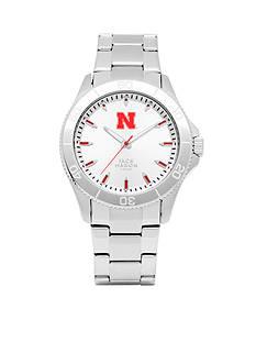 Jack Mason Men's Nebraska Sport Bracelet Silver Dial Watch
