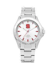 Jack Mason Men's NC State Sport Bracelet Silver Dial Watch