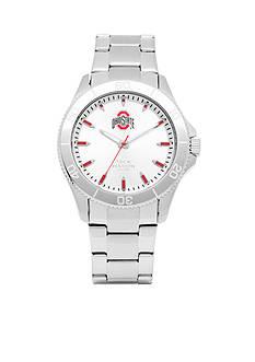 Jack Mason Men's Ohio State Sport Bracelet Silver Dial Watch