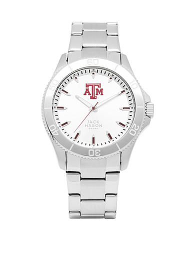Jack Mason Men's Texas A&M Sport Bracelet Silver Dial Watch