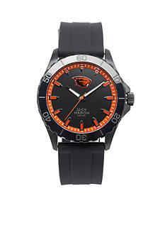 Jack Mason Men's Oregon State Blackout Silicone Strap Watch