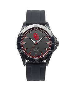 Jack Mason Men's Oklahoma Blackout Silicone Strap Watch