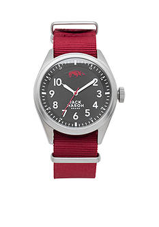 Jack Mason Men's Arkansas Nato Solid Strap Watch