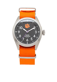 Jack Mason Men's Clemson Nato Solid Strap Watch