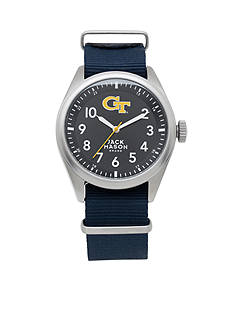 Jack Mason Men's Georgia Tech Nato Solid Strap Watch