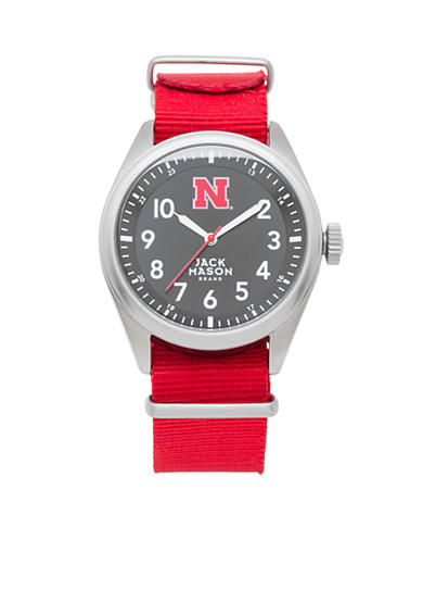 Men's Nebraska Nato Solid Strap Watch