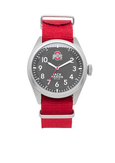 Jack Mason Men's Ohio State Nato Solid Strap Watch