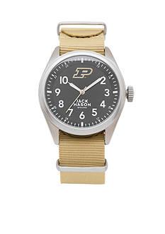 Jack Mason Men's Purdue Nato Solid Strap Watch