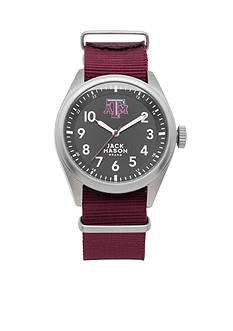 Jack Mason Men's Texas A&M Nato Solid Strap Watch