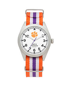 Jack Mason Men's Clemson Nato Striped Strap Watch