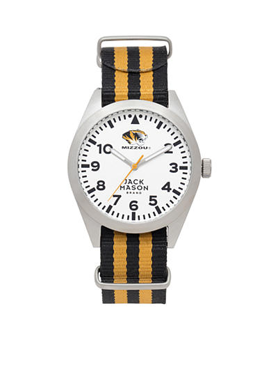 Jack Mason Men's Missouri Nato Striped Strap Watch