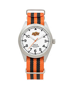 IZOD Men's Oklahoma State Nato Striped Strap Watch