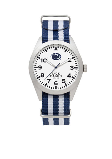 Jack Mason Men's Penn State Nato Striped Strap Watch