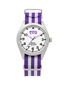 Jack Mason Men's TCU Nato Striped Strap Watch