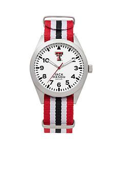 Jack Mason Men's Texas Tech Nato Striped Strap Watch