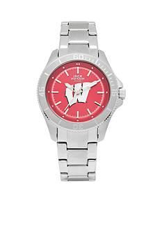 Jack Mason Women's Wisconsin Sport Bracelet Team Color Dial Watch