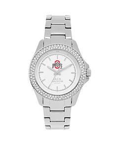 Jack Mason Women's Ohio State Glitz Sport Bracelet Watch