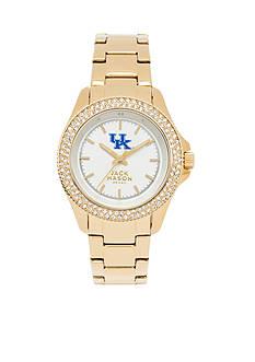 Jack Mason Women's Kentucky Gold Tone Glitz Sport Bracelet Watch