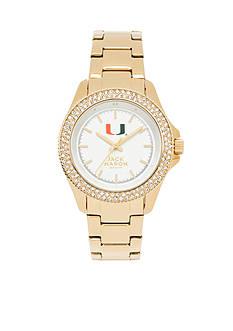 Jack Mason Women's Miami Gold Tone Glitz Sport Bracelet Watch