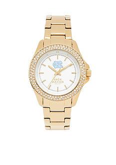 Jack Mason Women's North Carolina Gold Tone Glitz Sport Bracelet Watch
