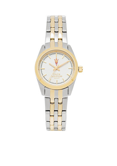 Jack Mason Women's Arizona State Two Tone Dress Bracelet Watch