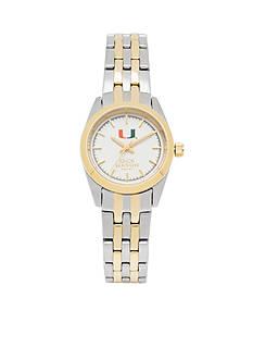 Jack Mason Women's Miami Two Tone Dress Bracelet Watch