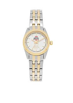 Jack Mason Women's Ohio State Two Tone Dress Bracelet Watch