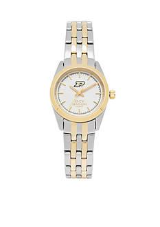 Jack Mason Women's Purdue Two Tone Dress Bracelet Watch