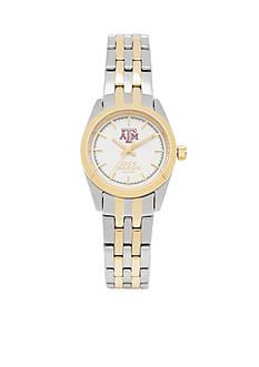 Jack Mason Women's Texas A&M Two Tone Dress Bracelet Watch