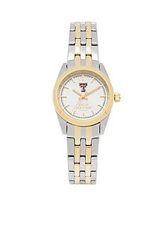 Jack Mason Women's Texas Tech Two Tone Dress Bracelet Watch