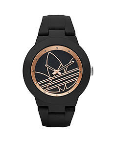 adidas® Original Aberdeen with Black and Rose Gold Dial Three Hand Watch