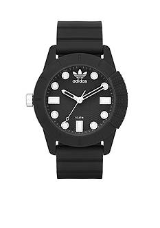 Men's adidas Originals AHD-1969 Black Silicone Three Hand Watch