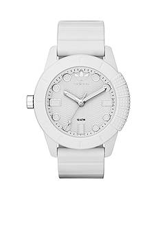 Men's adidas Originals AHD-1969 White Silicone Three Hand Watch