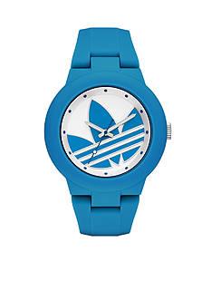 adidas Women's Aberdeen Three-Hand Blue Silicone Watch
