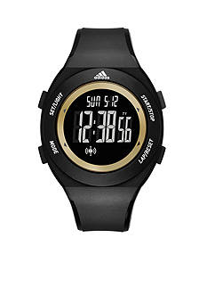 adidas® Performance Sprung Black and Gold Digital Watch