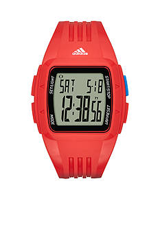 adidas® Men's Duramo Digital Red Silicone Watch