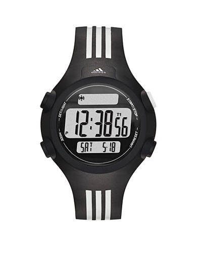 adidas® Black and White Questra Mid Digital Watch
