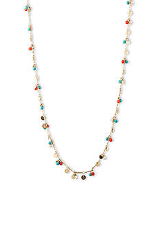 Lonna & Lilly Gold-Tone and Multi Color Shaky Bead Necklace