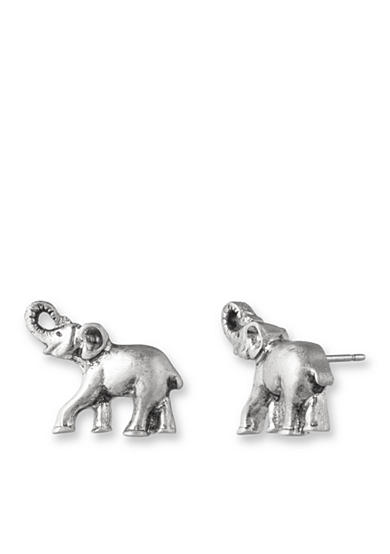 Lonna & Lilly Silver-Tone Elephant Stud Earrings<br>