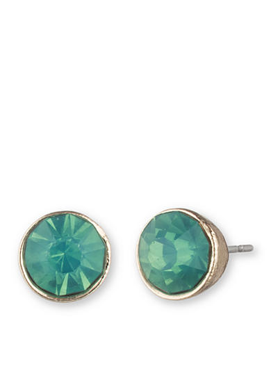 Lonna & Lilly Gold-Tone and Green Glass Stud Earrings