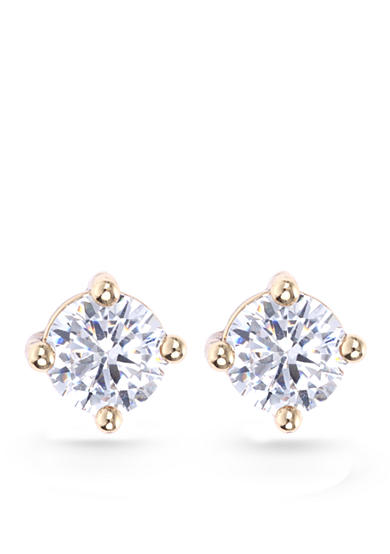 Lonna & Lilly Cubic Zirconia Gold-Tone Stud Earrings